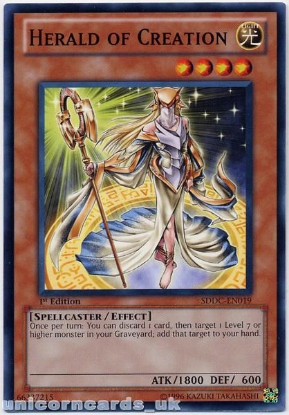 Picture of SDDC-EN019 Herald of Creation 1st Edition Mint YuGiOh Card