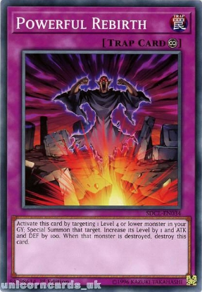 Picture of SDCL-EN034 Powerful Rebirth 1st Edition Mint YuGiOh Card