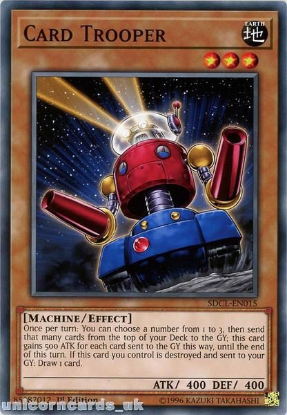 Picture of SDCL-EN015 Card Trooper 1st Edition Mint YuGiOh Card