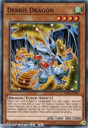 Picture of SDCL-EN016 Debris Dragon 1st Edition Mint YuGiOh Card