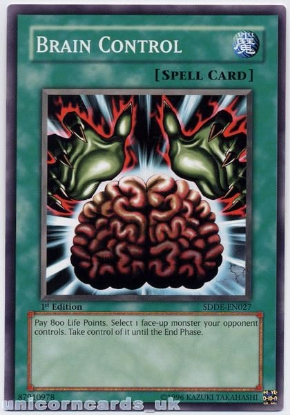 Picture of SDDE-EN027 Brain Control 1st Edition Mint YuGiOh Card