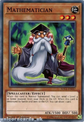 Picture of SDCL-EN017 Mathematician 1st Edition Mint YuGiOh Card