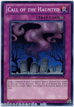 Picture of SDDC-EN038 Call of the Haunted 1st Edition Mint YuGiOh Card