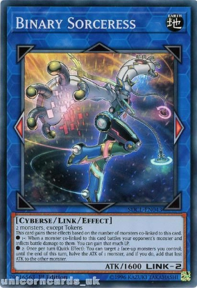 Picture of SDCL-EN043 Binary Sorceress Super Rare 1st Edition Mint YuGiOh Card