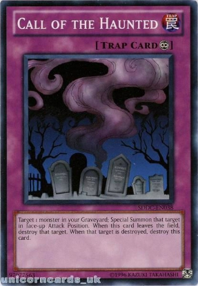 Picture of SDDC-EN038 Call of the Haunted UNL Edition Mint YuGiOh Card