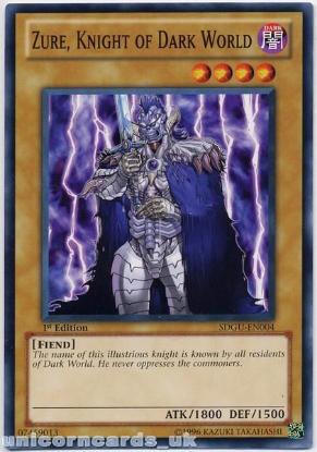 Picture of SDGU-EN004 Zure, Knight of Dark World 1st Edition Mint Yu-Gi-Oh! Card