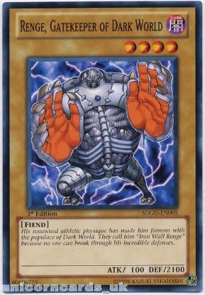 Picture of SDGU-EN005 Renge, Gatekeeper of Dark World 1st Edition Mint Yu-Gi-Oh! Card