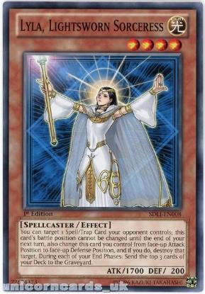 Picture of SDLI-EN008 Lyla, Lightsworn Sorceress 1st Edition Mint YuGiOh Card