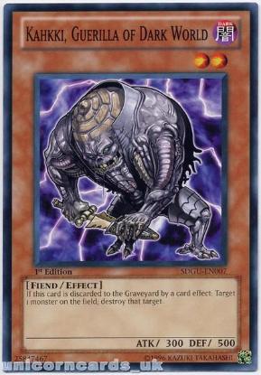 Picture of SDGU-EN007 Kahkki, Guerilla of Dark World 1st Edition Mint Yu-Gi-Oh! Card