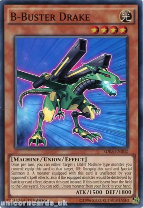 Picture of SDKS-EN002 B-Buster Drake Super Rare 1st edition Mint YuGiOh Card