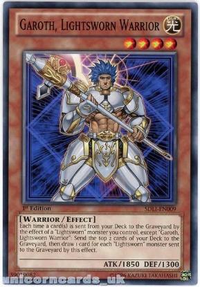 Picture of SDLI-EN009 Garoth, Lightsworn Warrior 1st Edition Mint YuGiOh Card
