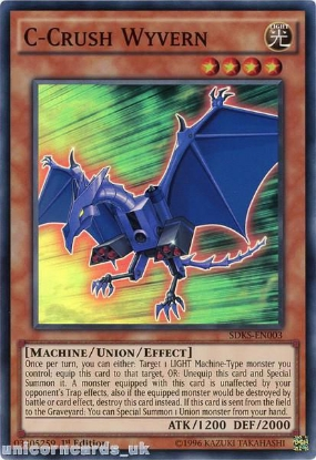 Picture of SDKS-EN003 C-Crush Wyvern Super Rare 1st edition Mint YuGiOh Card