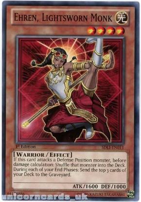 Picture of SDLI-EN011 Ehren, Lightsworn Monk 1st Edition Mint YuGiOh Card