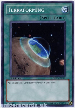 Picture of SDLS-EN025 Terraforming 1st Edition Mint Yu-Gi-Oh! Card