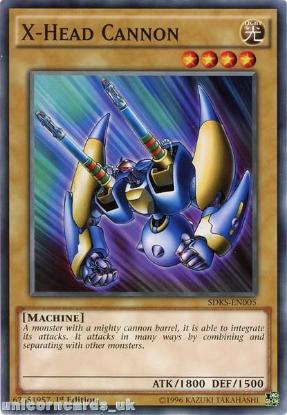 Picture of SDKS-EN005 X-Head Cannon 1st edition Mint YuGiOh Card