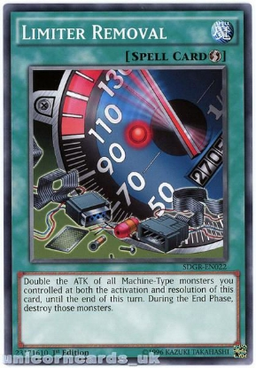 Picture of SDGR-EN022 Limiter Removal 1st Edition Mint YuGiOh Card