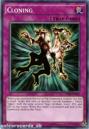 Picture of SDKS-EN035 Cloning 1st edition Mint YuGiOh Card