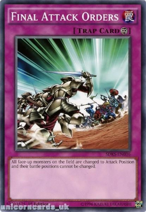 Picture of SDKS-EN036 Final Attack Orders 1st edition Mint YuGiOh Card
