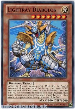 Picture of SDLI-EN017 Lightray Diabolos 1st Edition Mint YuGiOh Card