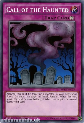 Picture of SDKS-EN037 Call of the Haunted 1st edition Mint YuGiOh Card
