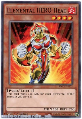 Picture of SDHS-EN005 Elemental HERO Heat 1st Edition Mint YuGiOh Card