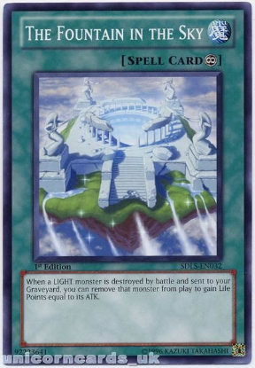 Picture of SDLS-EN032 The Fountain in the Sky 1st Edition Mint YuGiOh Card