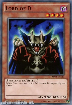 Picture of SDKS-EN011 Lord of D. 1st edition Mint YuGiOh Card