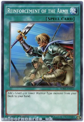 Picture of SDHS-EN032 Reinforcement of the Army 1st Edition Mint YuGiOh Card