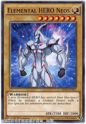 Picture of SDHS-EN007 Elemental HERO Neos 1st Edition Mint YuGiOh Card