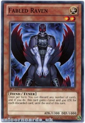 Picture of SDLI-EN020 Fabled Raven Common 1st Edition Mint YuGiOh Card