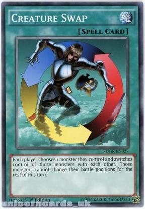 Picture of SDGR-EN027 Creature Swap 1st Edition Mint YuGiOh Card