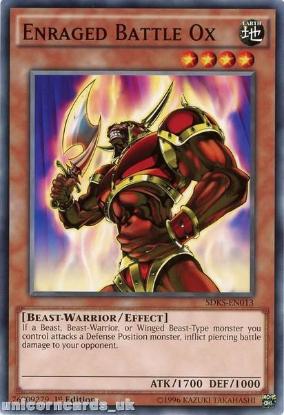 Picture of SDKS-EN013 Enraged Battle Ox 1st edition Mint YuGiOh Card