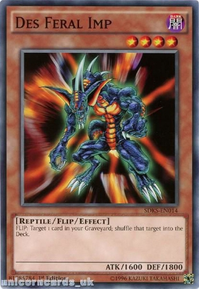 Picture of SDKS-EN014 Des Feral Imp 1st edition Mint YuGiOh Card