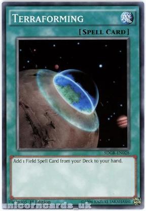 Picture of SDGR-EN028 Terraforming 1st Edition Mint YuGiOh Card