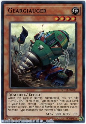 Picture of SDGR-EN003 Geargiauger Ultra Rare 1st Edition Mint YuGiOh Card