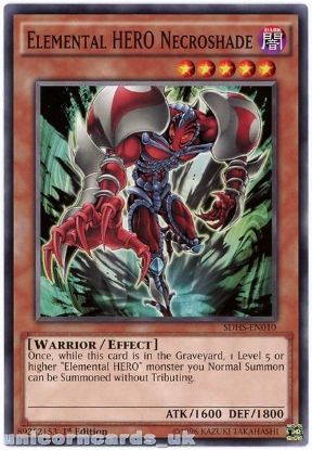 Picture of SDHS-EN010 Elemental HERO Necroshade 1st Edition Mint YuGiOh Card