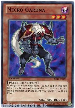 Picture of SDLI-EN023 Necro Gardna 1st Edition Mint YuGiOh Card