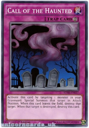 Picture of SDHS-EN037 Call of the Haunted 1st Edition Mint YuGiOh Card