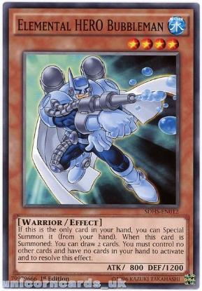 Picture of SDHS-EN012 Elemental HERO Bubbleman 1st Edition Mint YuGiOh Card