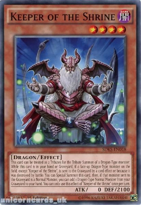 Picture of SDKS-EN018 Keeper of the Shrine 1st edition Mint YuGiOh Card