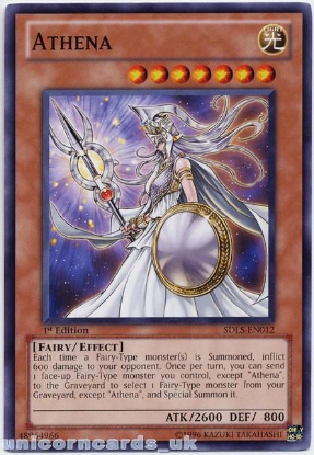 Picture of SDLS-EN012 Athena 1st Edition Mint Yu-Gi-Oh! Card