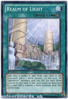 Picture of SDLI-EN025 Realm of Light 1st Edition Mint YuGiOh Card