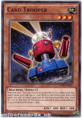 Picture of SDHS-EN015 Card Trooper 1st Edition Mint YuGiOh Card