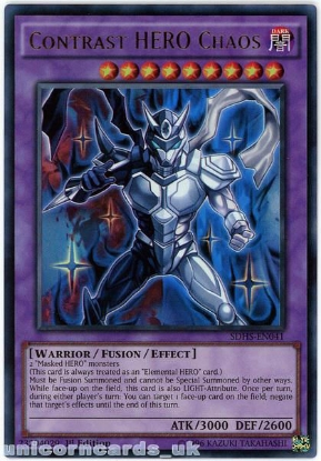 Picture of SDHS-EN041 Contrast HERO Chaos Ultra Rare 1st Edition Mint YuGiOh Card