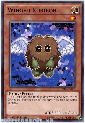 Picture of SDHS-EN016 Winged Kuriboh 1st Edition Mint YuGiOh Card