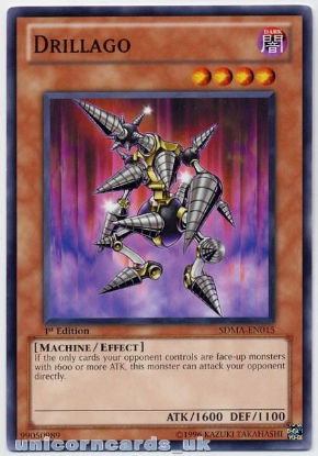 Picture of SDMA-EN015 Drillago 1st Edition Mint YuGiOh Card