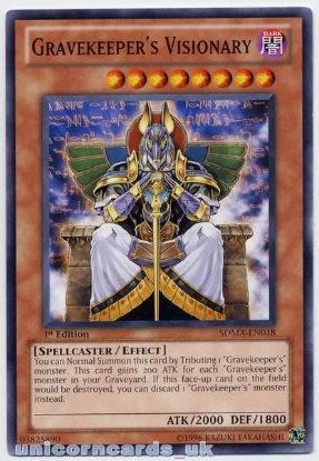 Picture of SDMA-EN018 Gravekeeper's Visionary 1st Ed Mint YuGiOh Card