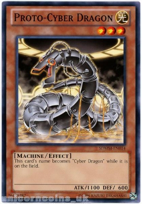 Picture of SDMM-EN014 Proto-Cyber Dragon UNL Edition Mint YuGiOh Card