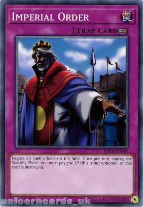 Picture of SDRR-EN040 Imperial Order 1st Edition Mint YuGiOh Card