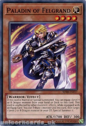 Picture of SDRR-EN017 Paladin of Felgrand 1st Edition Mint YuGiOh Card